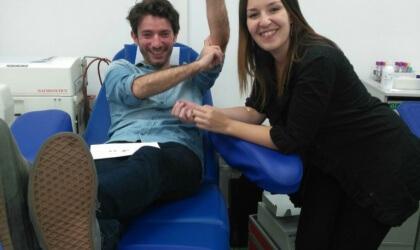 Donar sang acompanyat