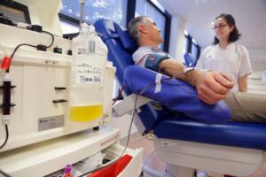 Jordi Jaume, donant de plasma