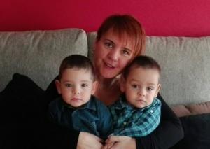 Cristina amb els seus fills