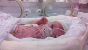 Laia, a l'Hospital de la Vall d'Hebron