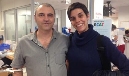 Hermes Boltas (donant) i Montserrat Sabaté (mare de dos fills)