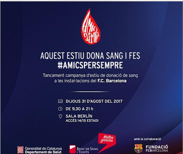 Campanya de donació al Camp del Barça