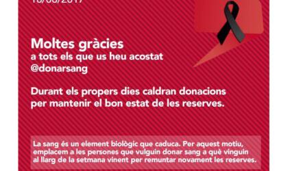 Moltes gràcies als donants