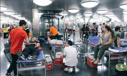 Donació de sang al Metro