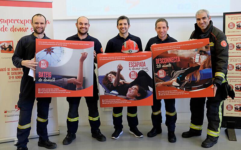 Bombers donants a La Marató de Catalunya de 2018