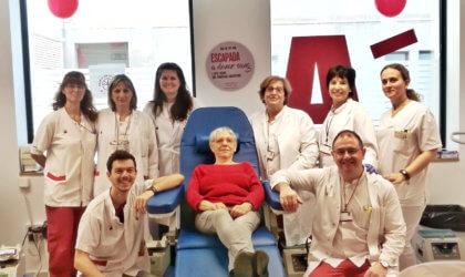 Maria Josep Rovira, donant de 70 anys
