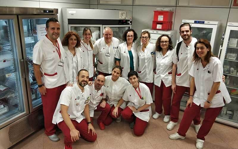 Equip transfusions BST de l'Hospital Vall d'Hebron