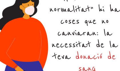 Donar sang a la nova normalitat