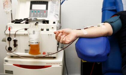 donació de plasma al Clínic